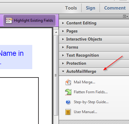 Add user data to an existing response file