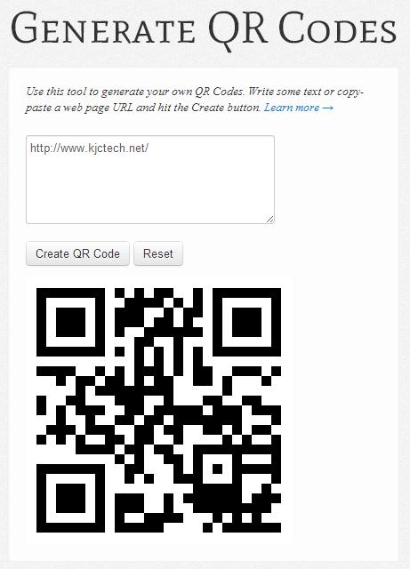 Generate QR Codes