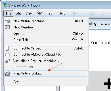 vmware-workstation-map-virtual-disk
